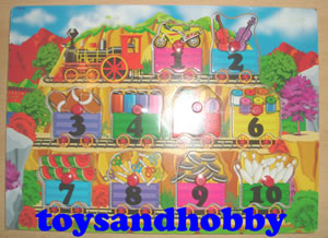 JIG09 - TRAIN NUMBERS WOODEN PUZZLE