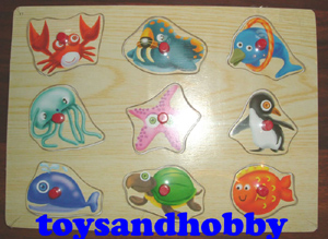 JIG12 - SEA CREATURES WOODEN PUZZLE
