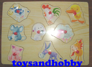 JIG14 - FUNKY FARMYARD WOODEN PUZZLE