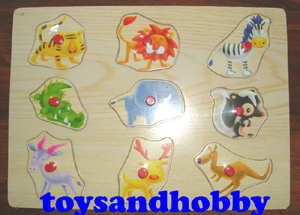 JIG15 - FUNKY ZOO WOODEN PUZZLE