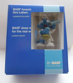 basf-boxed - BASF CHEMIST BOXED VERY RARE ITEM BOXED 2007 PROMO SMURF (LIGHT BLUE TAG)